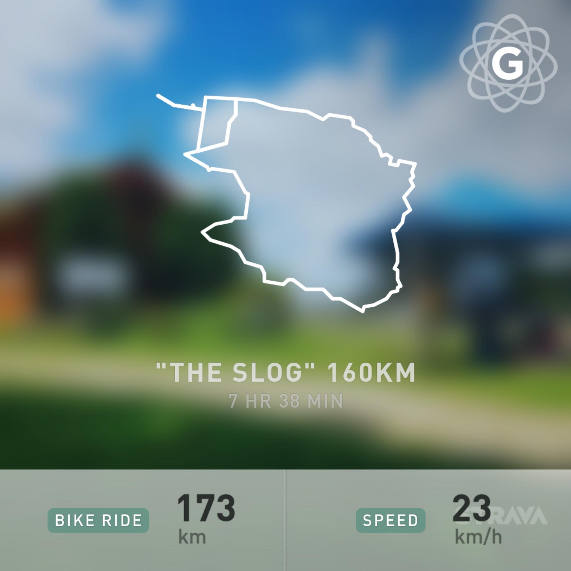 The Slog, 2018, 160km